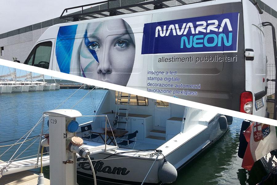 Decorazione automezzi e imbarcazioni - NAVARRA NEON, Olbia