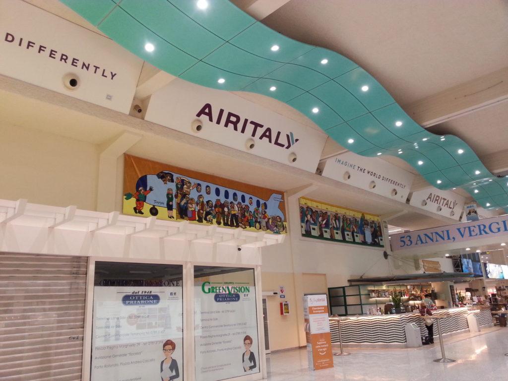 allestimenti pubblicitari air-italy - - NAVARRA NEON, Olbia